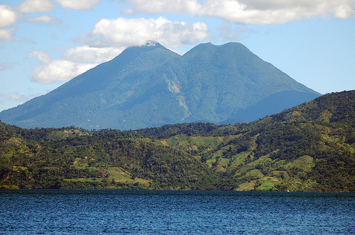 Touristic attractions of El Salvador : Lago de Ilopango