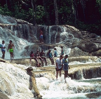Touristic attractions of Jamaica : Dunn's River Falls