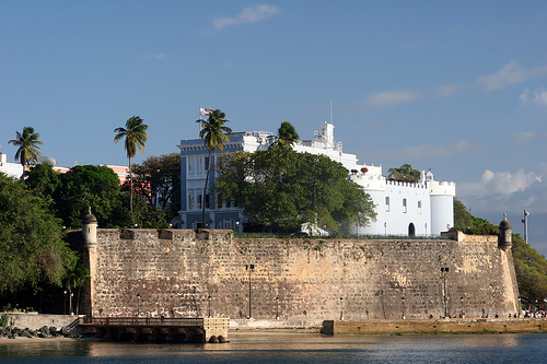 Touristic attractions of Puerto Rico : Old El Morro Fort