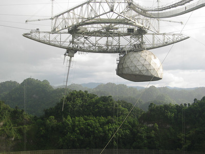 Touristic attractions of Puerto Rico : Arecibo Radio Telescope