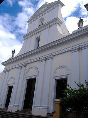 Touristic attractions of Puerto Rico : Old San Juan Cathedral