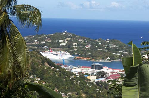 Touristic attractions of Saint Lucia : Castries