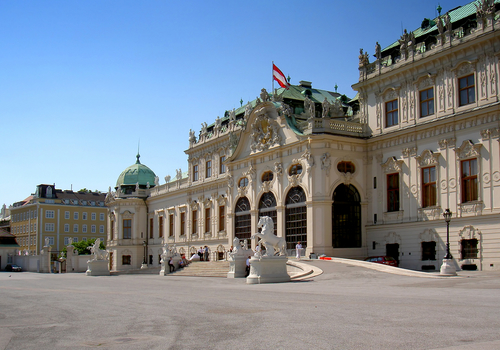 Touristic attractions of Austria : Belvedere