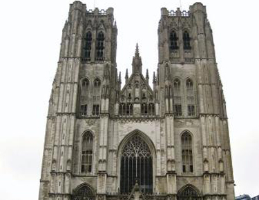 Touristic attractions of Belgium : St. Michael and Gudula Cathedral