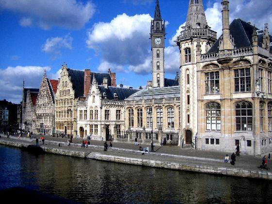 Touristic attractions of Belgium : The Graslei
