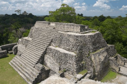 Touristic attractions of Belize : The Caana Mayan pyramid