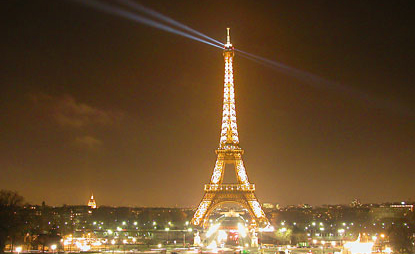 Touristic attractions of France : The Eiffel Tower
