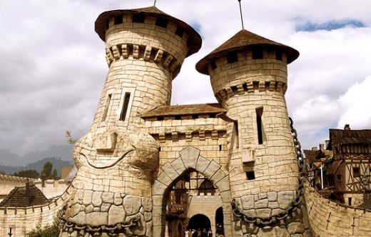 Touristic attractions of France : Parc Asterix, Plailly near Paris