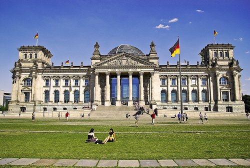 Touristic attractions of Germany : Reichstag, Berlin