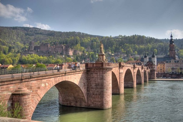 Touristic attractions of Germany : Karl Theodor Bridge,Heidelberg