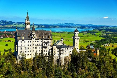 Touristic attractions of Germany : Neuschwanstein Castle, Bavaria