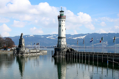 Touristic attractions of Germany : Lake Constance, Bodensee