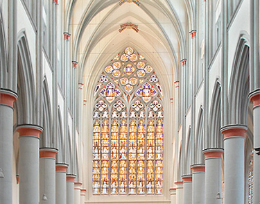 Touristic attractions of Germany : Altenberg Cathedral