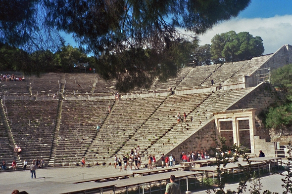 Touristic attractions of Greece : Epidaurus Theatre