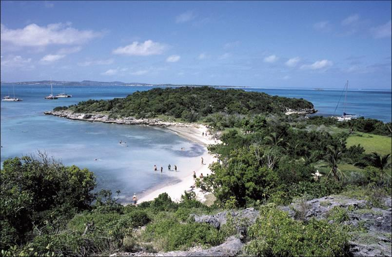 Touristic attractions of Antigua and Barbuda : Great Bird Island