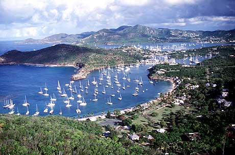 Touristic attractions of Antigua and Barbuda : English Harbor