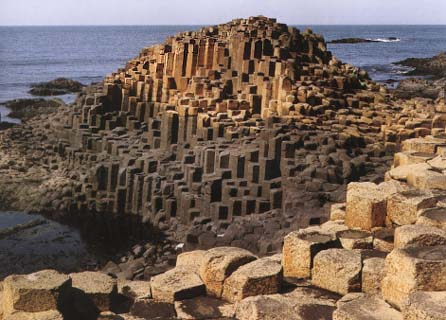 Touristic attractions of Ireland : Giant's Causeway
