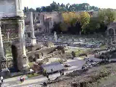 Touristic attractions of Italy : The Roman Forums (Forum Magnum)