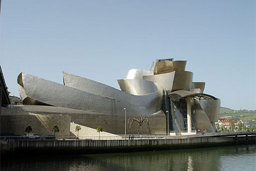 Touristic attractions of Spain : The Guggenheim Museum