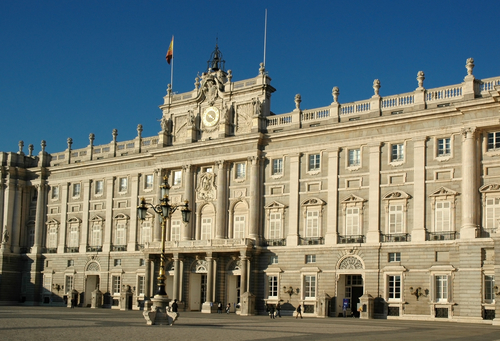 Touristic attractions of Spain : Royal palace Madrid