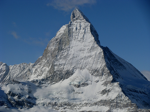 Touristic attractions of Switzerland : Matterhorn / Mont Cervin / Monte Cervino