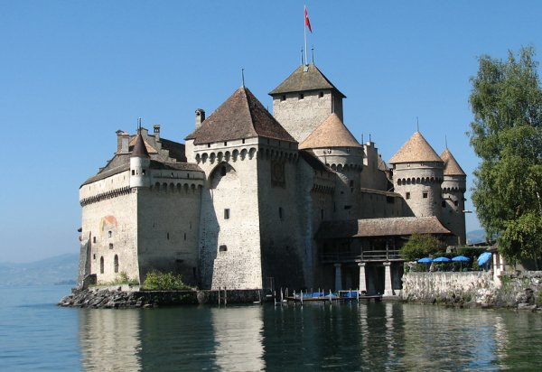 Touristic attractions of Switzerland : The Chillon Castle