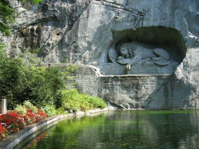 Touristic attractions of Switzerland : Lion Monument