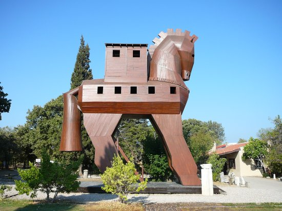 Touristic attractions of Turkey : Troy