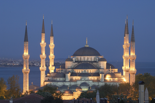 Touristic attractions of Turkey : Blue Mosque - Sultan Ahmet Camii