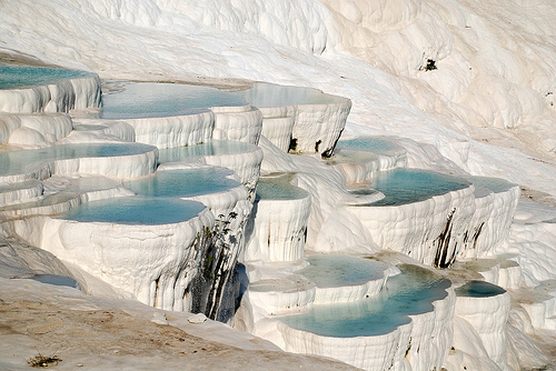 Touristic attractions of Turkey : Pamukkale