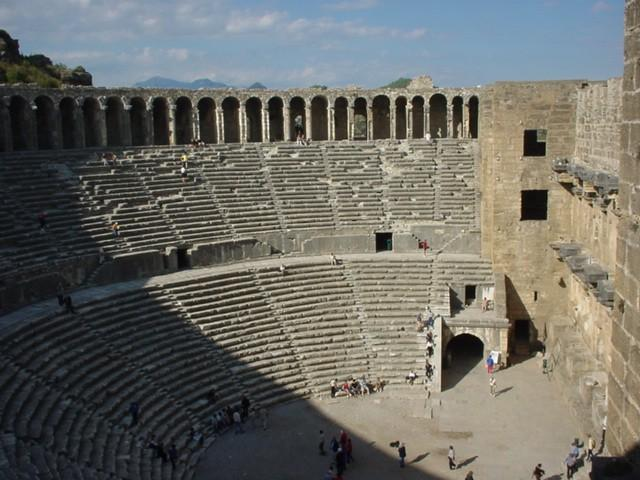 Touristic attractions of Turkey : Aspendus