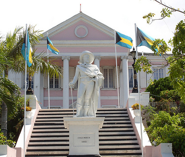 Touristic attractions of Bahamas : Government House & Changing of the Guard