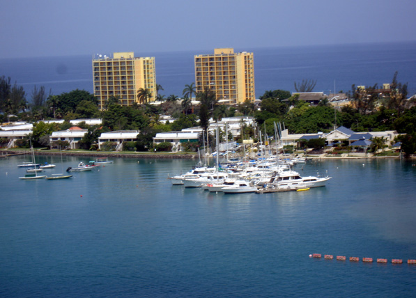 Touristic attractions of The Caribbean : Montego Bay, Jamaica