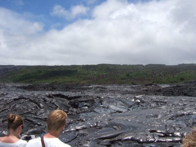 Touristic attractions of Hawaii : Garden of the God Lava Field, Lanai Island