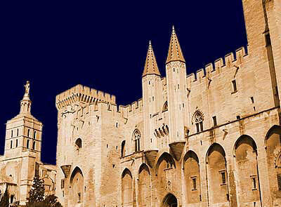 Touristic attractions of Mediterranean : The City of the Popes, Avignon