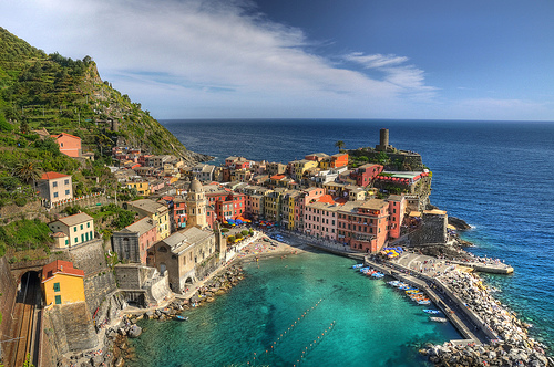Touristic attractions of Mediterranean : La Spezia, The Gulf of Poets and the Cinque Terre