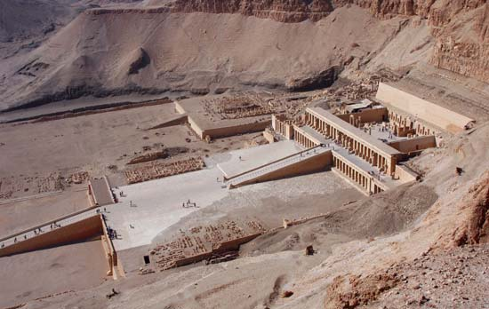 Touristic attractions of Egypt : Valley of the Kings, Thebes