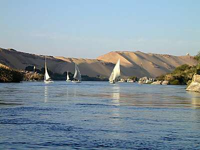 Touristic attractions of Egypt : nile river aswan