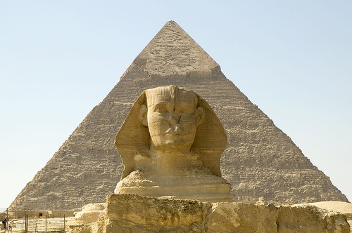 Touristic attractions of Egypt : Pyramids of Giza