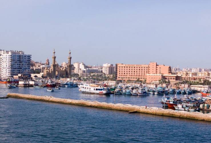 Touristic attractions of Egypt : Lake Manzala, Port Said