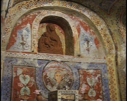 Touristic attractions of Malta : catacombs and frescoes of Ste Agatha, Rabat