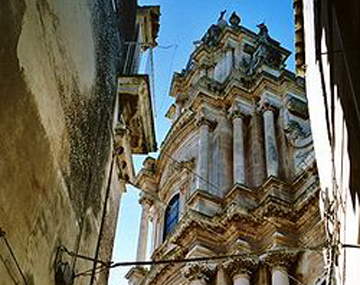 Touristic attractions of Malta : Neo-Classical Cathedral, Mosta