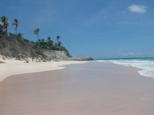 Touristic attractions of Barbados : Crane Beach