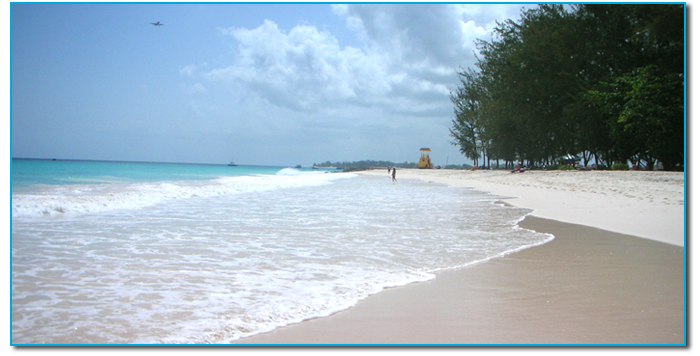 Touristic attractions of Barbados : Enterprise Beach