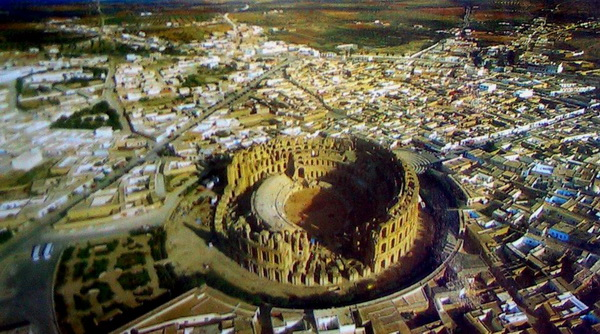 Touristic attractions of Tunisia : Amphitheater, Carthage