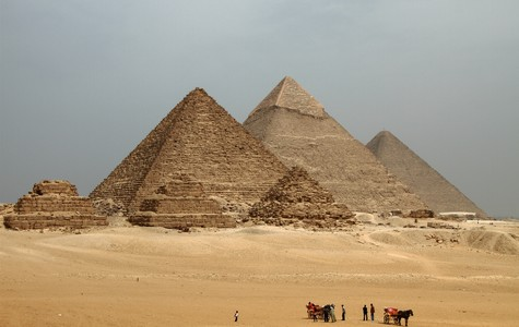 Touristic attractions of Africa : Pyramids of ancient Egypt