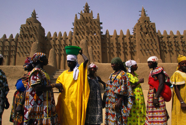 Touristic attractions of Africa : Timbuktu