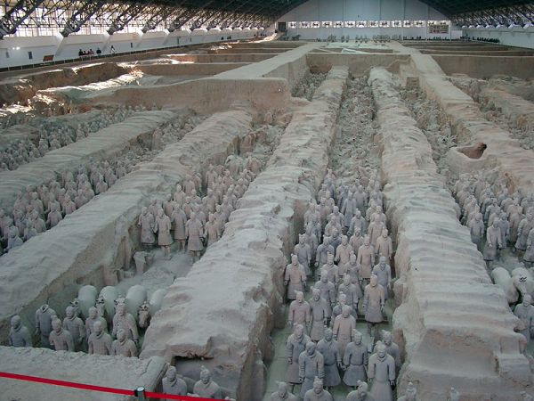 Touristic attractions of China : The museum of the Terracotta Army