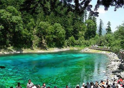 Touristic attractions of China : Jiuzhaigou Valley