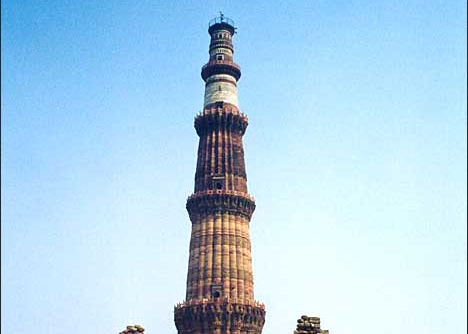 Touristic attractions of India : Kutub Minar, Delhi